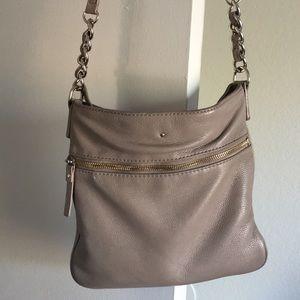 Used Kate Spade Crossbody Bag - Gray/Beige